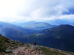 Ben Nevis (17) (Travellingmattspix) Tags: bw mountain flower rabbit church ferry scotland scenery view hiking peak scene steeple bennevis summit lochlomond fortwilliam ascent desent reliant bennevis24thaugust2011fuji