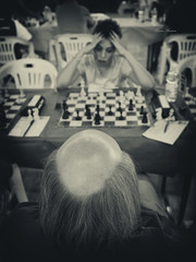 the chess game (Franco Marconi) Tags: portrait people blackandwhite bw italy monochrome sepia iso800 europe italia gallery fuji retrato chess s portrt finepix fujifilm cinematic ritratto fujinon marche franco processor sensor marconi  scacchi lemarche chessgame f20  fermo cmos 2011 x100  potret portosangiorgio fujifilmfinepix exr apsc fujix portosgiorgio   palasavelli francomarconi fujifilmx100 finepixx100 fujix100 fujifilmfinepixx100 x100 fujinon23mmf20 fujinon23mm fujinonf20