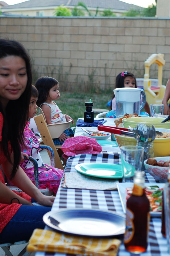 summer dinner with friends