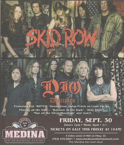 09-30-11 Skid Row/Dio Disciples @ Medina Entertainment Center, Medina, MN