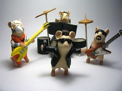 U2 - The Mouse Years (QuernusCrafts) Tags: cute u2 drums bass guitar band polymerclay bono theedge commission larrymullen adamclayton quernuscrafts