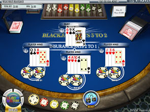 Blackjack Multi-Hand Rival Win