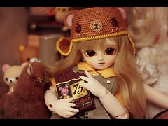 (Kinomi ) Tags: bear cute hat toy doll crochet kawaii bjd amigurumi abjd yosd anotherspace babyred anotherspace2