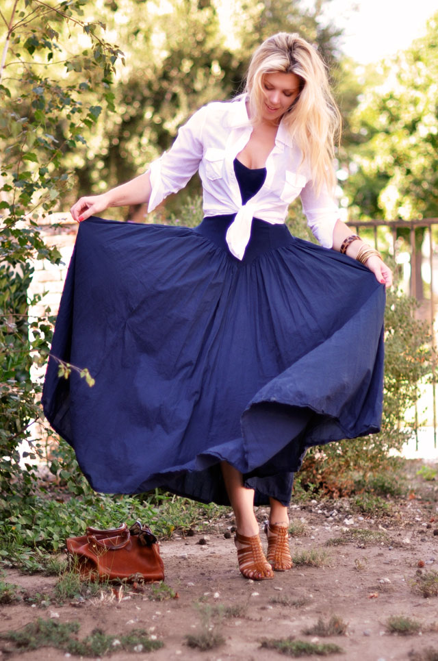 2-long-dress-and-button-down-outfit