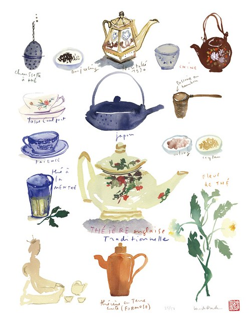 Tea Time Limited Edition Print by lucileskitchen