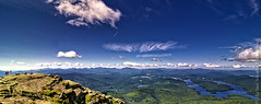 Lake Placid from Whiteface Mountain (Micha67) Tags: road mountain newyork nature clouds landscape michael nikon micha summit newyorkstate wilmington adirondack whiteface veterans lakeplacid schaefer weatherstation d300 highpeaks whitefacemountain ptf