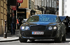 Rolling (SCGcars) Tags: world vienna black cars monster out austria amazing all ss continental headlights front beast grille gt crusing bentley blacked supersports worldcars