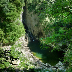 The Reka river before plunging into the underground canyon (Bn) Tags: world park bridge heritage archaeology nature river giant underground geotagged hall waterfall topf50 rocks paradise crossing treasure sink natural blind earth great deep rocky reserve biosphere center canyon unesco drain caves slovenia journey valley chamber mysterious limestone classical gorge cave jules walls slovenija stalagmite exploration prehistoric karst topf100 mala sinks floods sinkholes sinkhole dolina jame entrances jama cerkvenik verne reka skocjanske doline velika cerknica 100faves 50faves kocjan zavod regiona kocjanske javni dolinel geo:lon=13991749 geo:lat=45664877