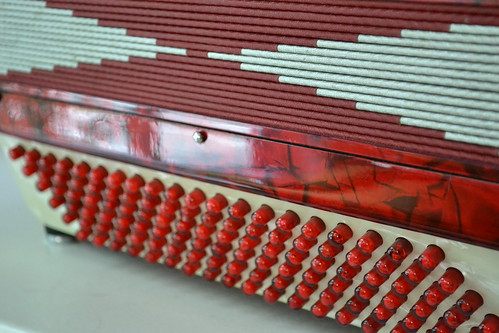 close up on the accordion
