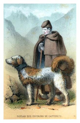 004-Campesino de los alrededores de Cauterets-Costumes pyrénéens-1860