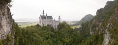 Neuschwanstein Castle, Schwangau (Marco Boekestijn) Tags: panorama lake castle rock architecture germany landscape nikon view wide palace panoramic marco distance neuschwanstein moutains stitched panoramique schwangau d80 boekestijn