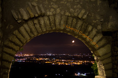 "View from ""Belvedere"" - Sermoneta (Marco Calabro') Tags: italy moon night belvedere sermoneta abigfave 55250is canondos60d"