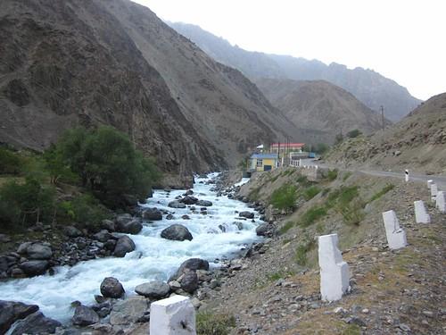 The beautiful whitewater down to Kalaikhum.