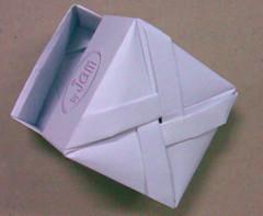 พับกล่องสี่เหลี่ยมมีฝาปิด origami box with lid