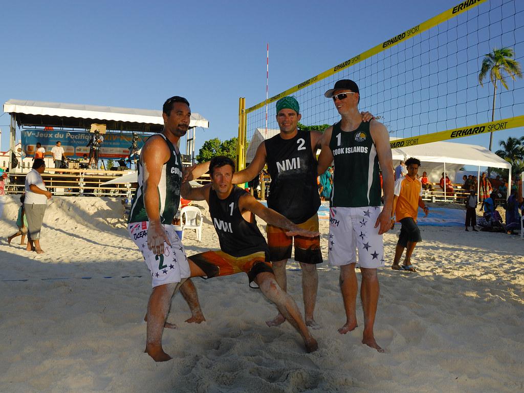 XIVème Jeux du Pacifique, Cook Islands VS Northern Mariana Islands, beach volleyball