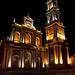 La bellissima illuminazione della Basilica di San Francesco in Salta