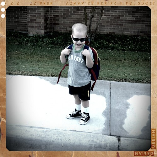 Billy getting ready to go into his 2nd day of school