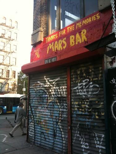 Shuttered Mars Bar