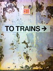 former glory (Redfishingboat (Mick O)) Tags: peeling amtrak exit decrepit iphone givingup schenectadyny totrains or2mt schenectadyny5