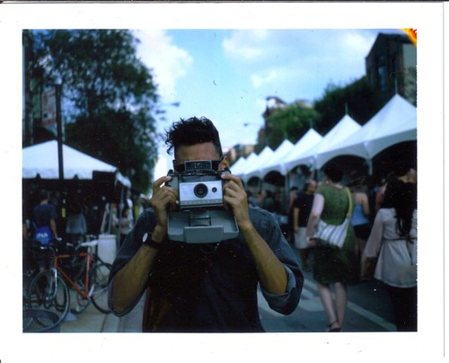 Justin with his Polaroid
