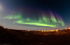 Full Moon Aurora (4) (savillent) Tags: new sky moon canada night stars landscape francis photography lights nikon neon space north nwt september full arctic anderson astrophotography aurora northwestterritories northern saville lunar borealis 2011 dewline tuktoyaktuk d300s