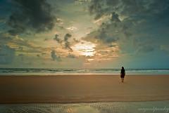 """Lonesome"" Goa 2010 (mayankpandey) Tags: sunset tourism beautiful sand nikon women solitude alone skies goa maharashtra lonely konkan lonesome layered d3000 mayankpandey"