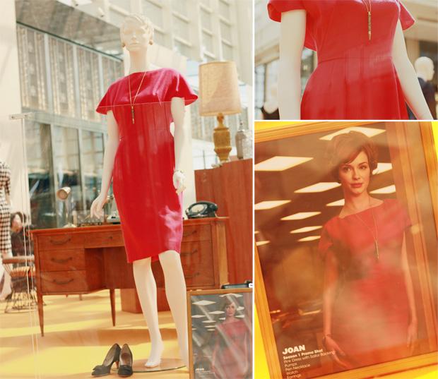 joan pink dress