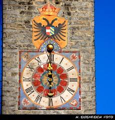 Zwlferturm (H. Eisenreich) Tags: italien italy tower clock ic italia alt hans heike turm vipiteno sdtirol bozen uhr adige sterzing poststrasse schmidmhlen flickraward eisenreich prachtstrasse zwlferturm faussgngerzone