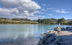 The Blue Lagoon (Ankit_) Tags: newzealand nature landscape lagoon wellington hdr porirua worldhdr