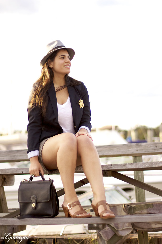 shorts + blazer