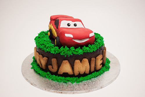 Flaming Pot Car Cake