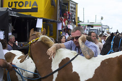 Horse fair in Utopia (Frank Fullard) Tags: street ireland portrait horse mobile tattoo phone candid cork fair piebald utopia fullard cahirmee buttevant frankfullard