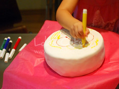 kid's drawing 2 (Lola's Cake) Tags: birthday colors cake kids paint drawing pastel colores celebration infantil dibujo nio tarta fondant lolascake rotuladores