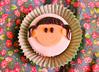 happy girl cupcake :) (Natália Viana) Tags: flowers flores cute girl happy sweet cupcake bolo menina doce natáliaviana