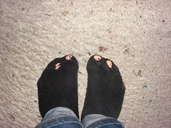 potatistr (lasseman92) Tags: broken stockings socks sock toe hole bad holes holy terrible worn torn heel cry trasig hobo hollow tattered wornout holey inherited hl t holysock strumpa luffar sockholes strumphl utslitna