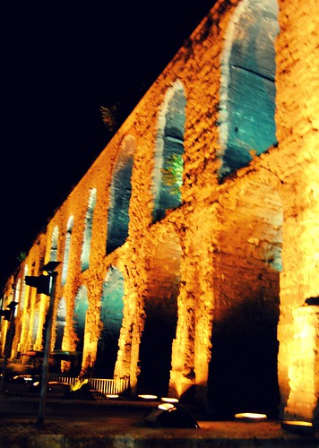 Aqueduct of Valens at Night