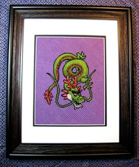 Divinegon Needlepoint (ghosts_in_towers) Tags: crossstitch dragon crafts nintendo videogames needlepoint dragonquest dragonwarrior geekcraft