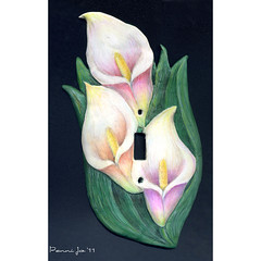 Calla Lily Switch Plate