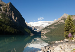 Another view from the Lake Louise (SyamAstro (500,000 views - thank you!)) Tags: morning canada reflection water alberta banff rockymountains lakelouise