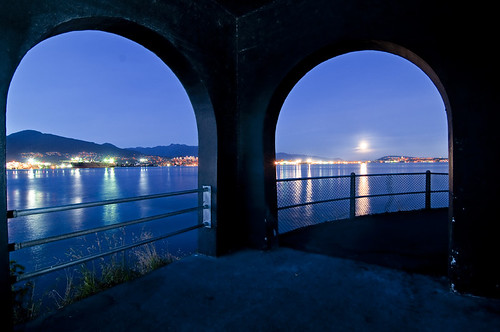 Moonrise over Burrard Inlet  by petetaylor