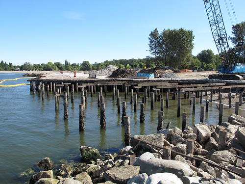 Jericho Beach Wharf demolition