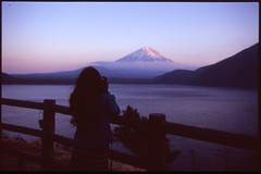 (bensn) Tags: camera sunset mountain film water japan fuji pentax slide velvia 100 f18 limited emi fa yama lx 31mm