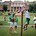 College of Education students enjoy a mild August afternoon on the Court of North Carolina.