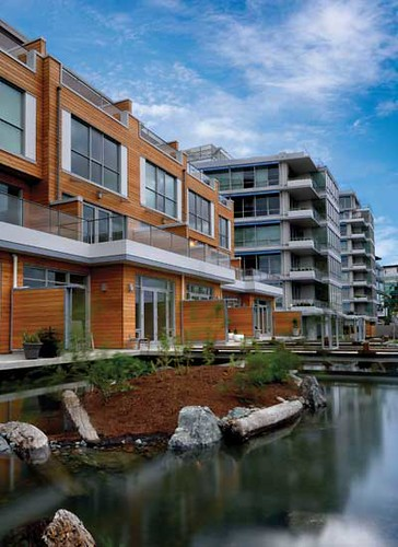water is of the essence in Victoria & in Dockside Green (photographer unknown, via Daily Commercial News & Construction Record)