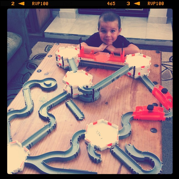Project 365 228/365: Our coffee table has been taken over by @hexbug maze.