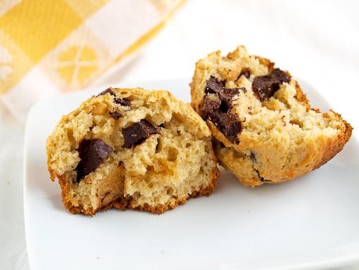 Crunchy Peanut Butter Chocolate Chip Muffins