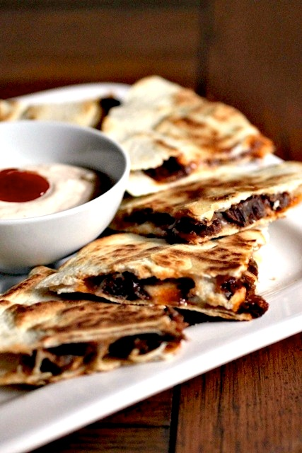 brie and brisket quesadillas 1