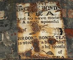 Old Brooke Bond Tea advert (Tony Worrall Foto) Tags: uk england copyright sign metal wall photo image notice tea stock ad rusty forgotten advert signage bleak past olden brookebond abandonnded 2011tonyworrall wetheriggsanimalrescueconservationcentre
