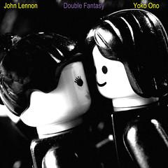 Double Fantasy (Kaptain Kobold) Tags: blackandwhite square kiss lego album cover monthlyscavengerhunt beatles johnlennon reproduction yokoono msh doublefantasy kaptainkobold yourfave msh0811 msh081118 flickrbingog53