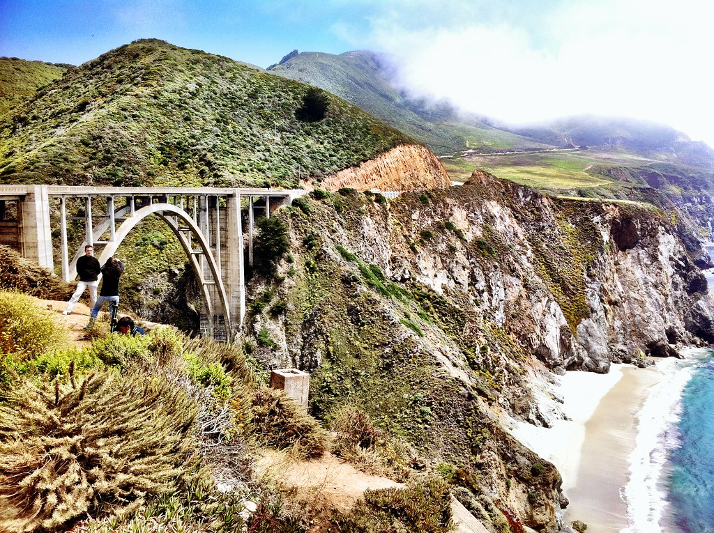 iPhone 4 image of the Bixby Bridge in Big Sur along California Highway 1